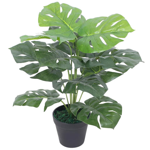 Artificial Monstera Plant with Pot 17.7 Green