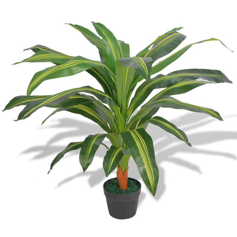 Artificial Dracaena Plant with Pot 35.4 Green