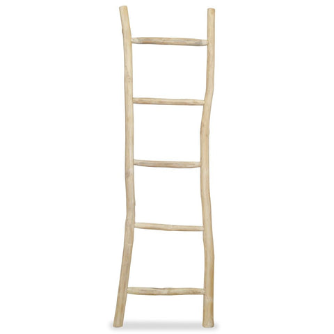 Towel Ladder with 5 Rungs Teak 17.7x59 Natural