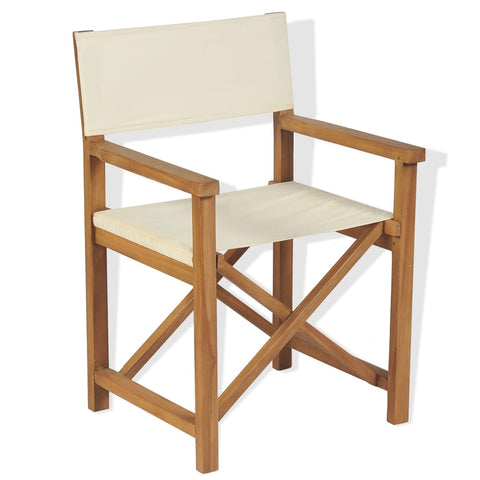 Folding Director's Chair Solid Teak Wood