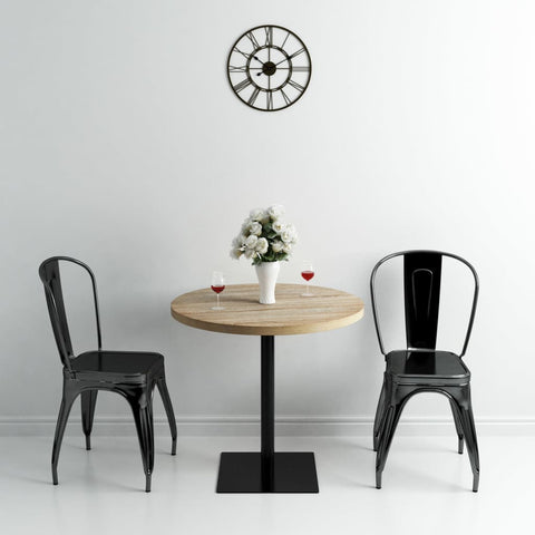 Bistro Table MDF and Steel Round 31.5x29.5 Oak Color