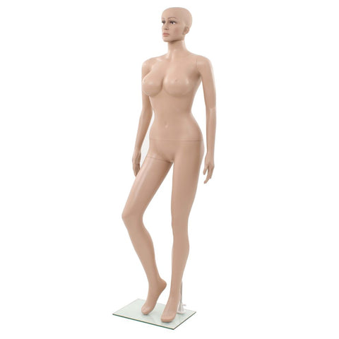 Sexy Female Mannequin with Glass Base Beige 70.9