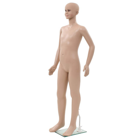 Full Body Child Mannequin with Glass Base Beige 55.1
