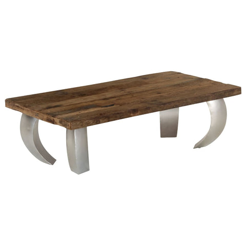 Opium Coffee Table Reclaimed Wood and Steel 43.3x23.6x13.8
