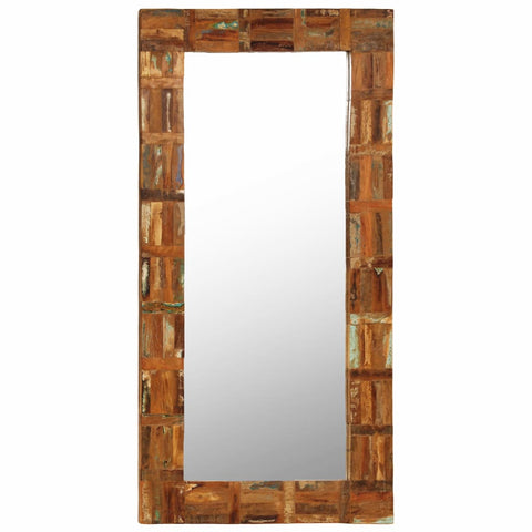 Wall Mirror Solid Reclaimed Wood 23.6x47.2