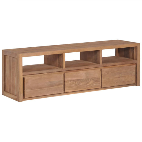 TV Cabinet Solid Teak Wood with Natural Finish 47.2x11.8x15.7