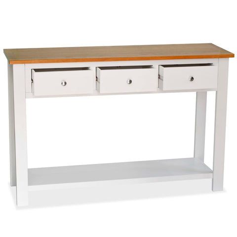 Console Table 46.5x13.8x30.3 Solid Oak Wood