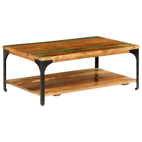 Coffee Table with Shelf 39.4x23.6x13.8 Solid Reclaimed Wood