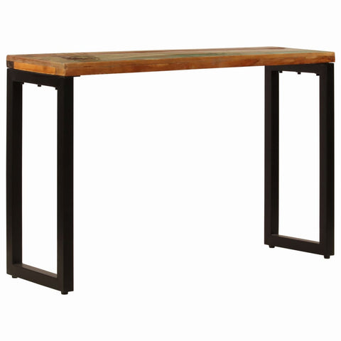 Console Table 47.2x13.8x29.9 Solid Reclaimed Wood and Steel