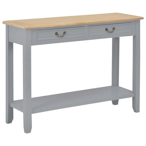 Console Table Gray 43.3x13.7x31.4 Wood