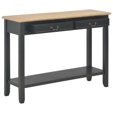 Console Table Black 43.3x13.7x31.4 Wood