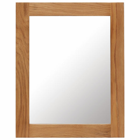 Mirror 15.7x19.6 Solid Oak Wood