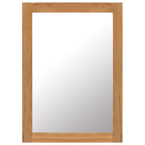 Mirror 19.6x27.5 Solid Oak Wood