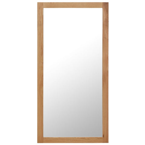 Mirror 23.6x47.2 Solid Oak Wood