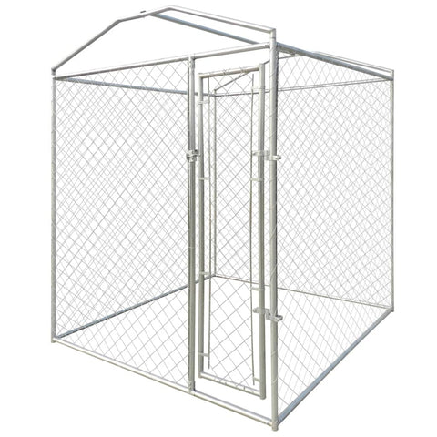 Outdoor Dog Kennel with Canopy Top 6'x6'x7.9'