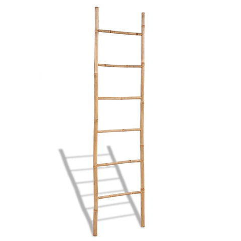 Bamboo Towel Ladder with 6 Rungs