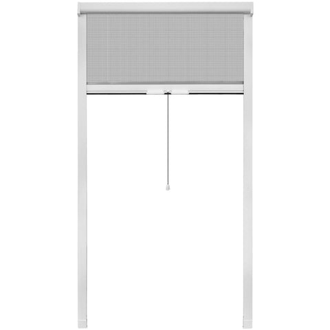 White Roll Down Insect Screen for Windows 39.4x66.9