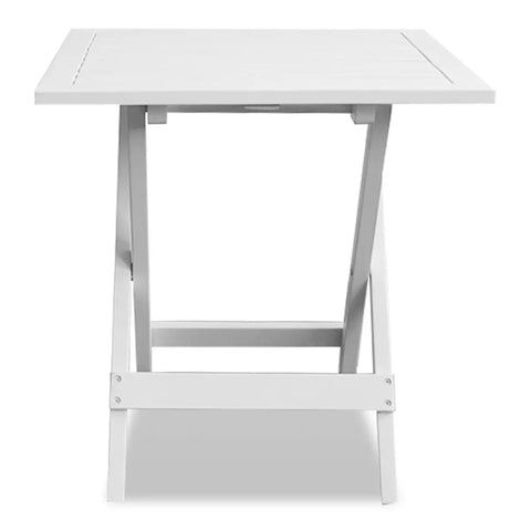 Bistro Table White 18.1x18.1x18.5 Solid Acacia Wood