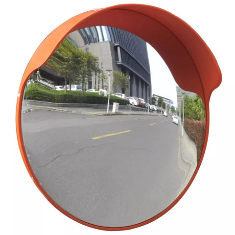 Convex Traffic Mirror PC Plastic Orange 18 Outdoor