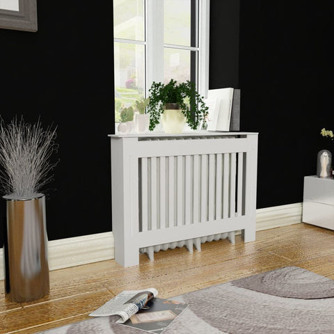 White MDF Radiator Cover Heating Cabinet 44