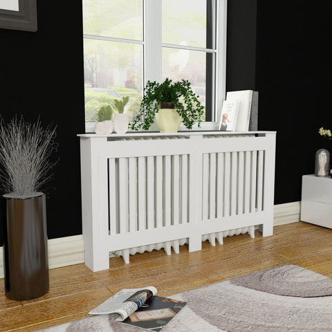 White MDF Radiator Cover Heating Cabinet 60