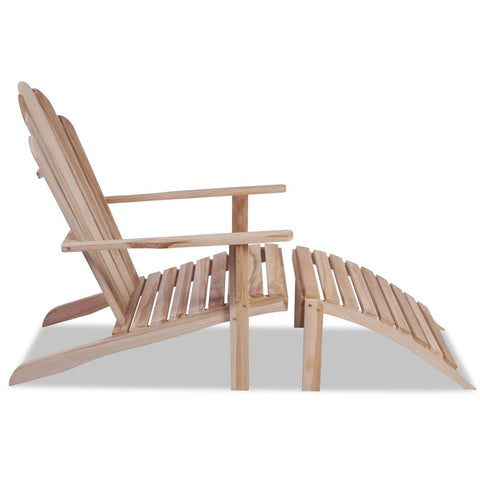 Adirondack Chair Solid Teak Wood