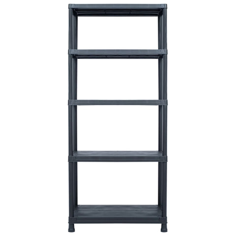 Storage Shelf Rack Black 1102.3 lb 35.4x23.6x70.9 Plastic