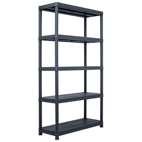 Storage Shelf Rack Black 1102.3 lb 39.4x15.7x70.9 Plastic
