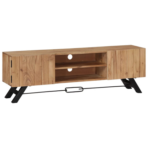 TV Cabinet 55.1x11.8x17.7 Solid Acacia Wood