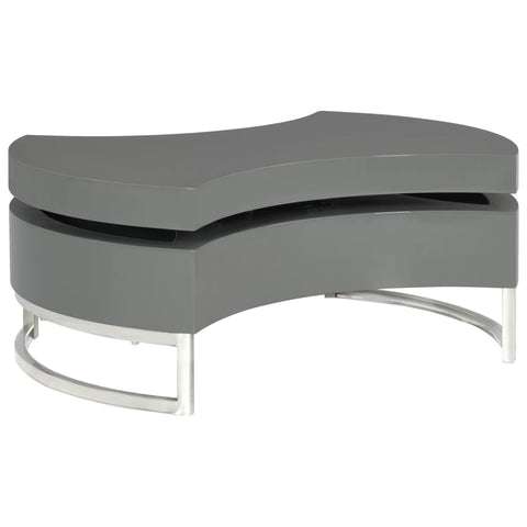 Coffee Table Shape-Adjustable High Gloss Gray
