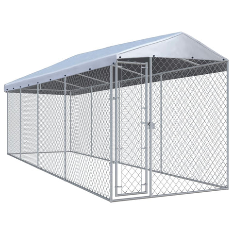 Outdoor Dog Kennel with Roof 299x75.6x94.5