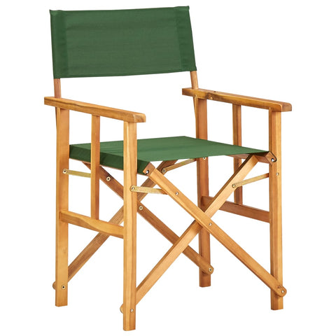 Director's Chair Solid Acacia Wood Green