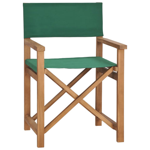 Director's Chair Solid Teak Wood Green