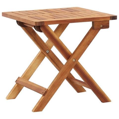 Folding Garden Coffee Table 15.7x15.7x15.7 Solid Acacia Wood