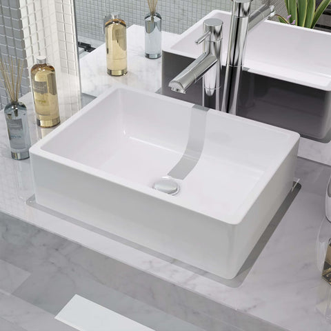 Basin Ceramic White 16.1x11.8x4.7