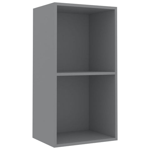 2-Tier Book Cabinet Gray 15.7x11.8x30.1 Chipboard