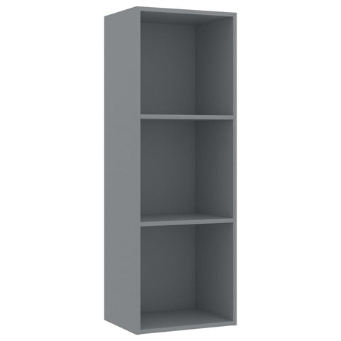 3-Tier Book Cabinet Gray 15.7x11.8x44.9 Chipboard