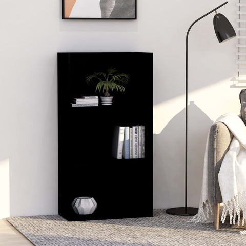 3-Tier Book Cabinet Black 23.6x11.8x44.9 Chipboard
