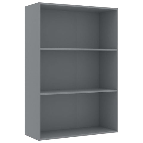 3-Tier Book Cabinet Gray 31.5x11.8x44.8 Chipboard
