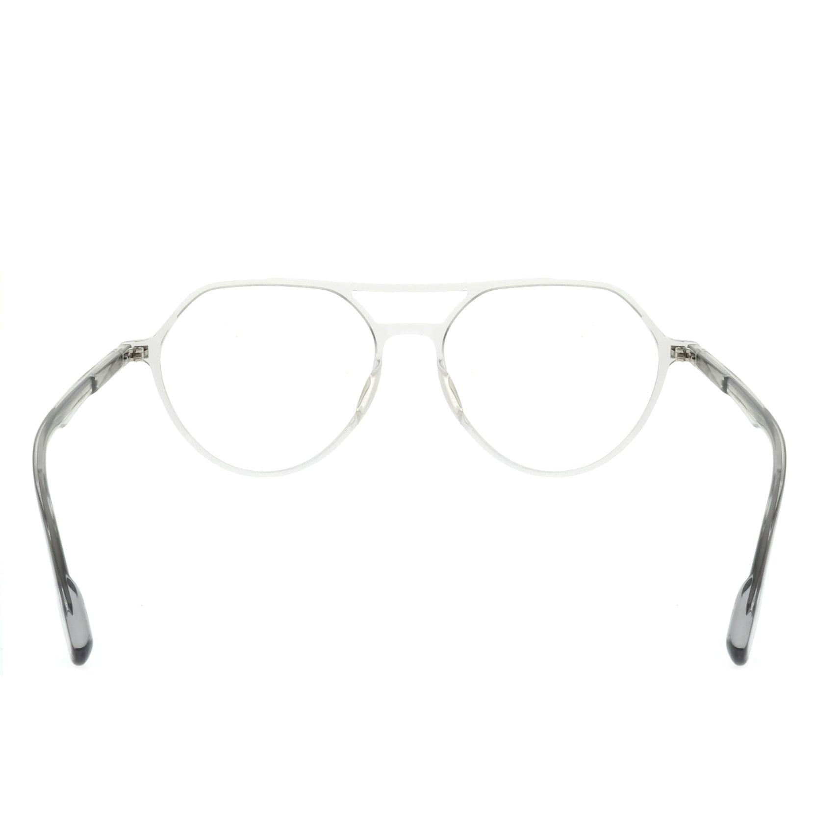 The Professor Clear Grey - Mollucas - Frame Kacamata Pria / Wanita Minus Plus Silinder Anti Radiasi