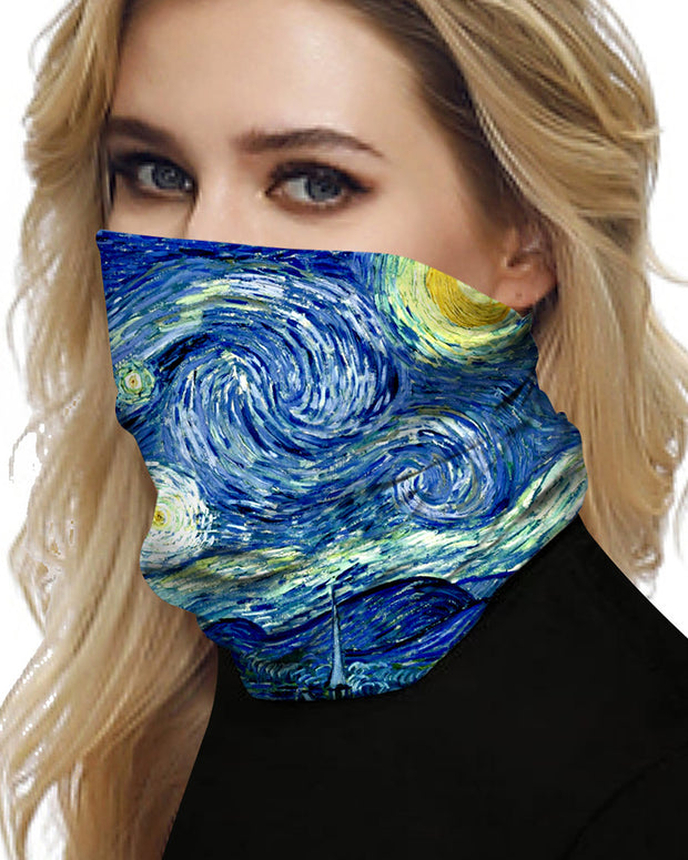 Cloud Sky Sparkle Sky Print Breathable Face Bandana Magic Scarf Headwrap Balaclava