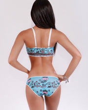 Sexy Printed Lace Trim Bikini Sets