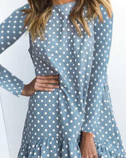 Polka Dot Ruffle Mini Dress
