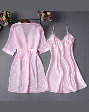 Viscose Satin Two-Piece Pajama Set