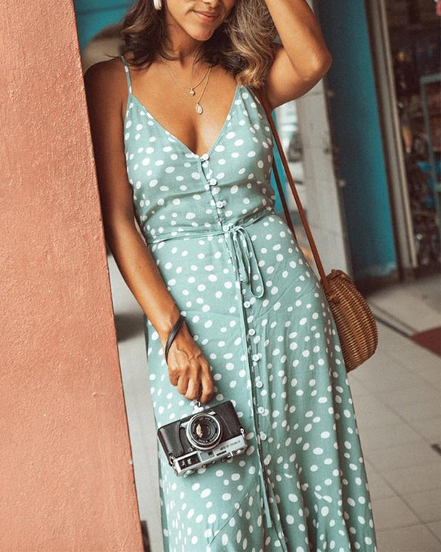 Tie Waist Cami Maxi Dress