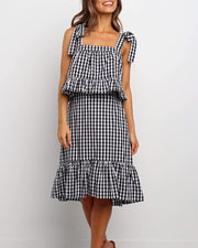 Gingham Print Two-Piece Set