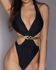 Halter Bandage One Piece Swimwear