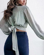 Waist Knot Crop Top