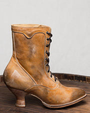 High-Heeled Lace Up Boots