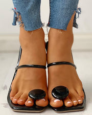 Toe Post Button Slipper Sandals